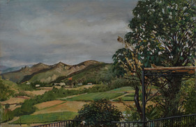 "View Of Mons La Trivalle 10"" x 16"" 1995"