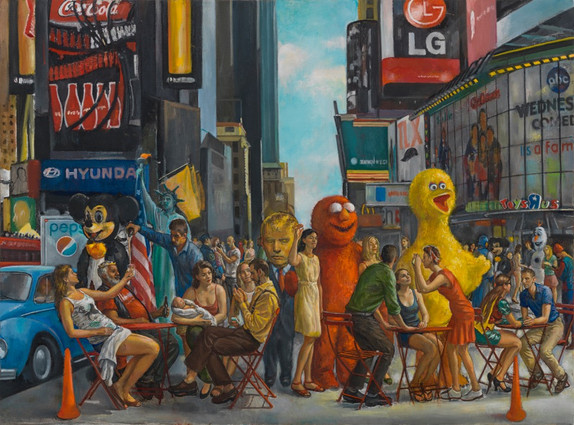 "Times Square 3* 31"" x 42"" 2015"