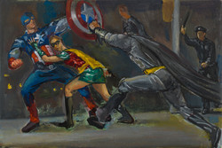 "Battle of Superheros 2* 11 1/4"" x 16"" 2015"