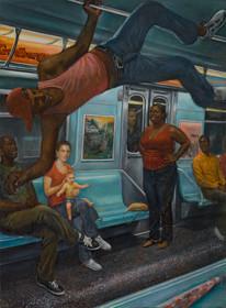 """Subway/Dancer 2 46 1/2"""" x 34"""" 2014-2015"""