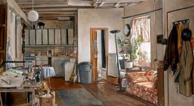 "Ninth Street Interior  29"" x 16"" 2001"