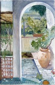 """Sicilian Terrace*  12"""" x 7"""" 1992"""