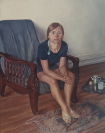 """Monique*  60"""" x 50"""" 1968"""