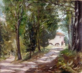 """Road To Montauto* 10"""" x 10"""" 1992"""
