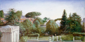 """American Academy View 8"""" x 5.5"""" 1996"""