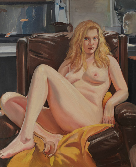 """Seated Blonde  33"""" x 27"""""""