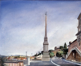 """Above The Spanish Steps*  8"""" x 12"""" 1996"""