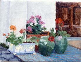 "Sicilian Flowers 4*  6"" x 8"" 1992"