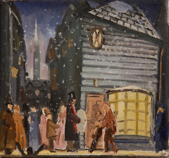 "F. Murray Abraham in A Christmas Carol 8"" x 8"" 2002"