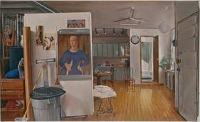 "Ninth Street Interior 4  40"" x 72"" 2001"