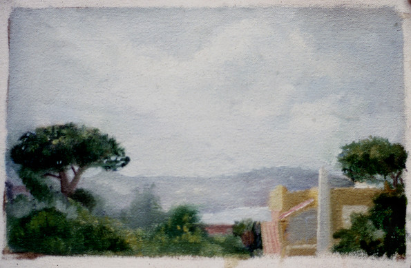 "View From Ischia 2 6"" x 9"" 1996"