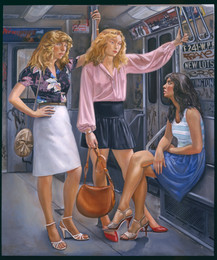 "Three Women In The City*  72"" x 60"" 1988"