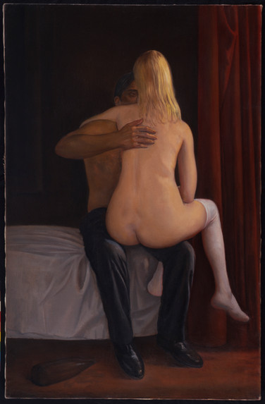 """The Embrace is...  60"""" x 39"""" 1991"""