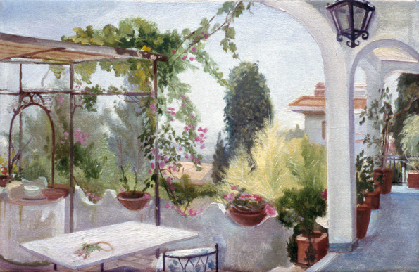 "Sicilian Villa 11"" x 15.5"" 1992"