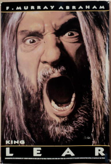 King Lear Poster  NY Public Theatre 1995