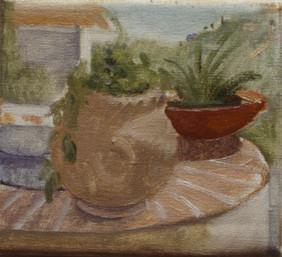 "Sicilian Pots  6.5"" x 7"" 1992"