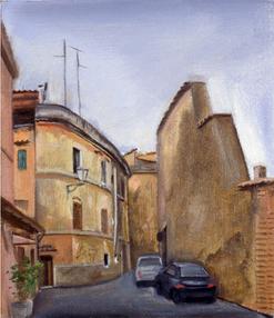 """Trastevere Street  8"""" x 13"""" 1996"""