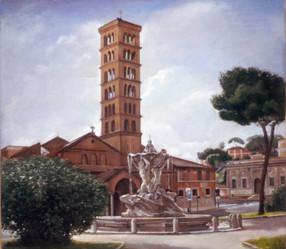 """Piazza di Bocca 21"""" x 24"""" 1996"""
