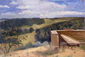 """View From Montauto 19"""" x 28.5"""" 1992"""