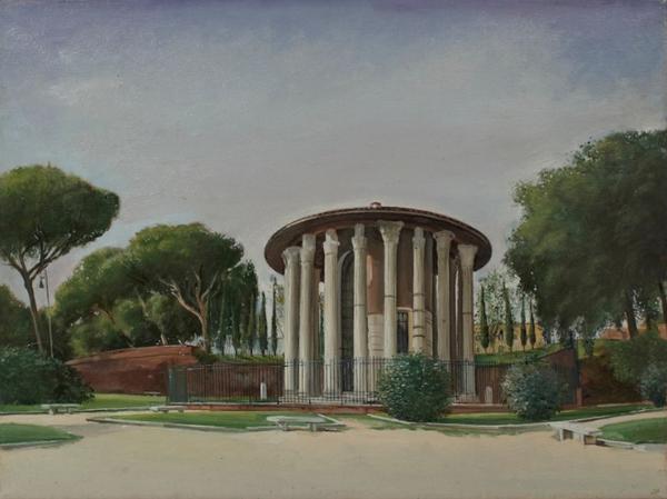 """Tempio di Vesta  18"""" x 14"""" 1996"""