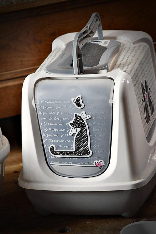 Maison de toilette blanche pour chatons et chats