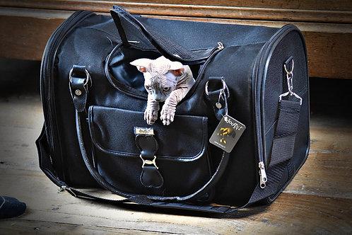 Elegant sac de transport repliable pour chats , chatons et chiots jusqu'à 5 kilo