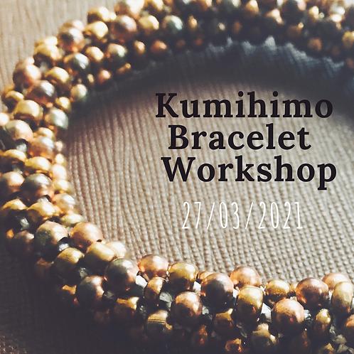 Kumihimo Bracelet Making Workshop 27th March 2021