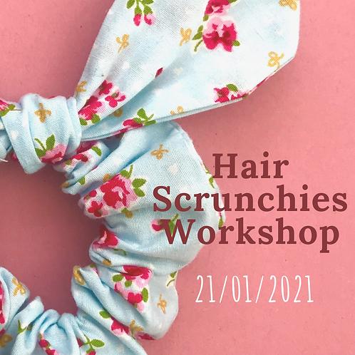 Hair Scrunchies Workshop 21st Jan 2021