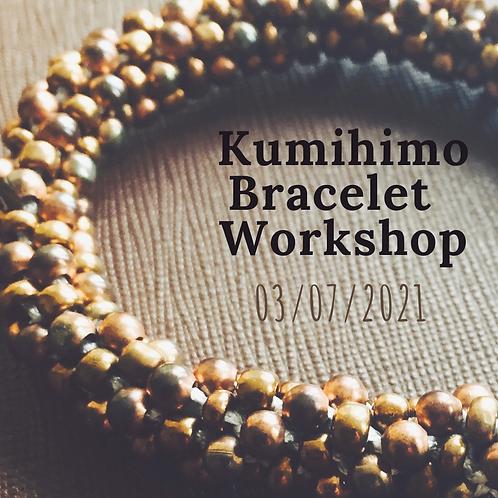 Kumihimo Bracelet Making Workshop 3rd July 2021