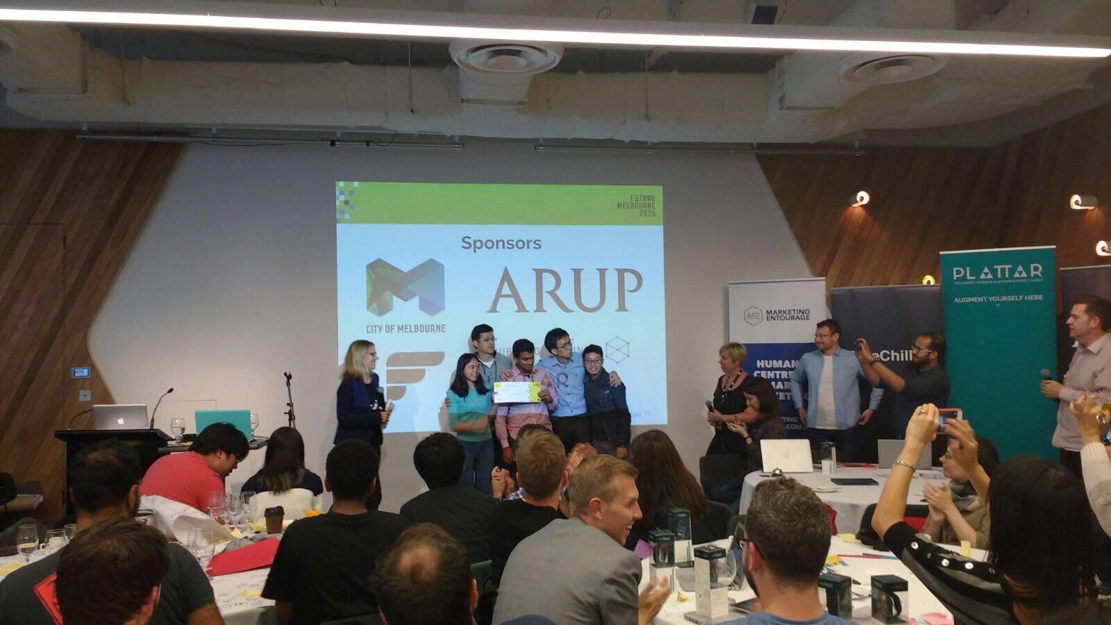 superglue team receiving awards