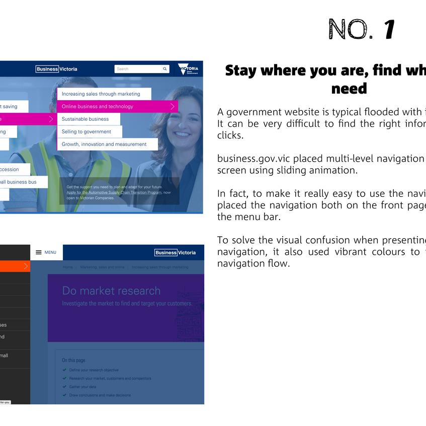 3.1 Navigation - business gov vic