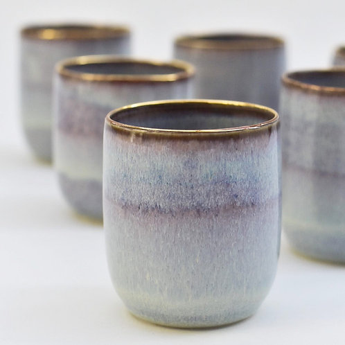 Heather Porcelain Tumbler with Gold Lustre