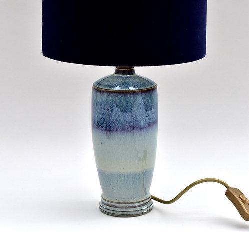 Tall porcelain Lamp base with heather glaze
