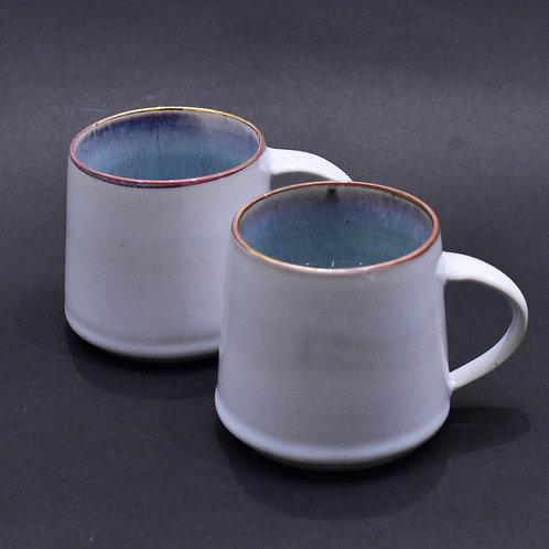 White Porcelain Mug with Gold Lustre- Slight Second