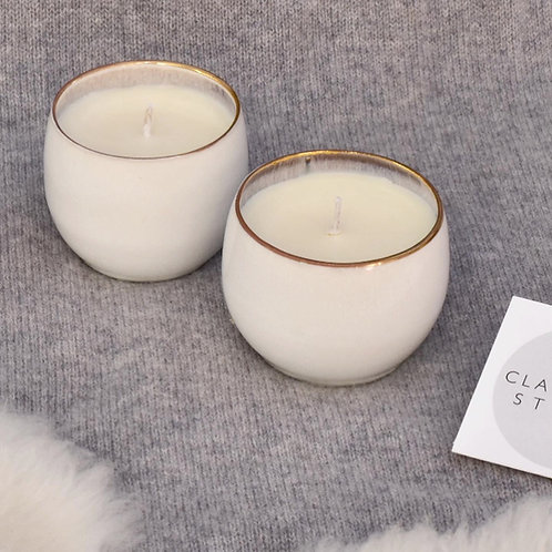 Rounded Porcelain Candle