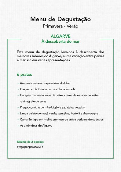 Menu Degustação Primavera-Verão_ALGAR