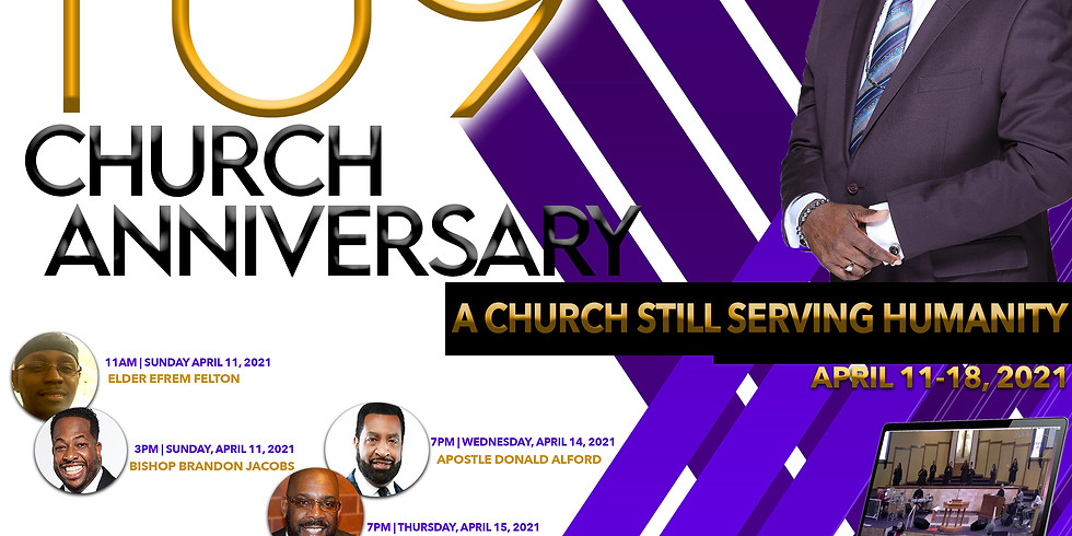 109 Year Anniversary Service (Archbishop William Hudson III)