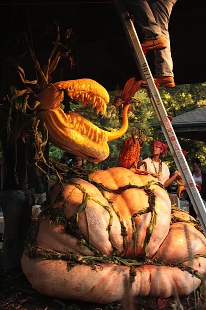 Pumpkin art NYBG Style