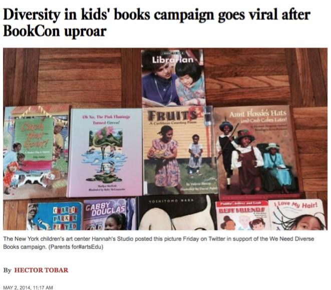 Hannah's Studio Book Club in the LA Times