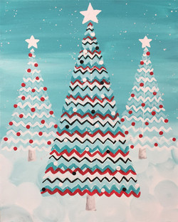 Chevron Christmas Trees