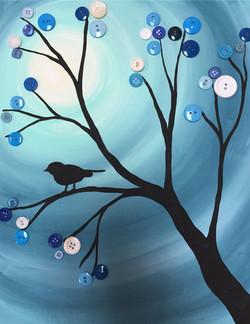 button bird bue