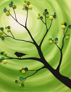 Button Tree & Bird