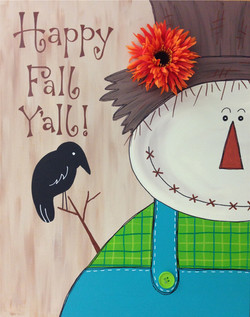 Happy Fall Scarecrow