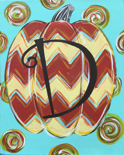 Chevron Monogram Pumpkin