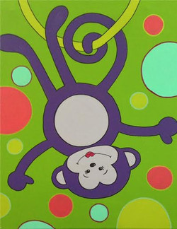 Polka Dot Monkey- girl