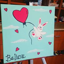 Believe Balloon Bunny