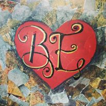 Mixed Media Word Heart