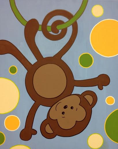 Polka Dot Monkey- boy