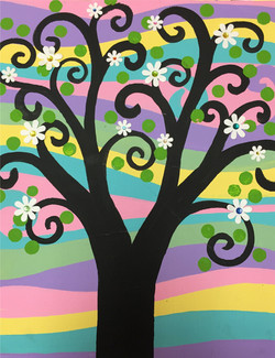 Spring Swirly Tree