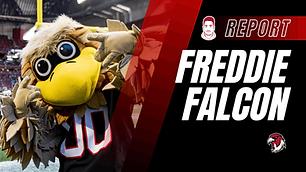 Freddie Falcon Maskottchen Atlanta Falco